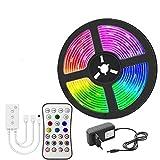 RongWang Tira de luz LED WiFi RGB 5050/2835 Cinta Flexible RGB Cinta de Luces LED 20M-5M DC 12V y Controlador WiFi (Color : 2835 Non Waterproof, Size : 15m Full Set)