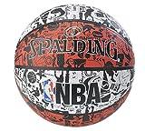 Spalding NBA Grafitti 83574Z - Balón de Baloncesto Unisex, Color Rojo