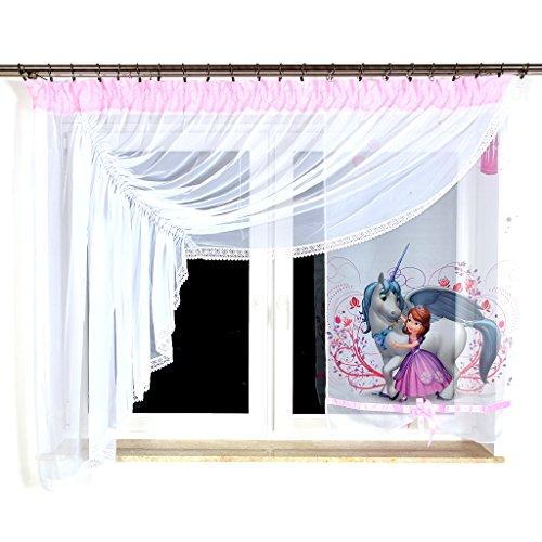Tkaniny GML-2 Disney Kindergardine für Mädchen/Kinder mit Motiv Sofia DIE Erste für Kinderzimmer/Mädchenzimmer / Vorhänge