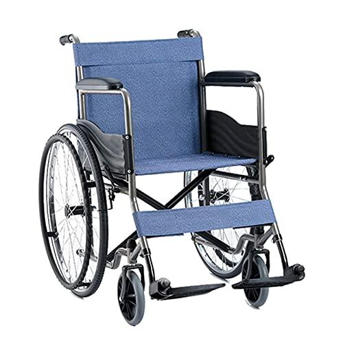 Sillas De Ruedas Silla De Ruedas Autopropulsada Multifunción Ligera Plegable para Ancianos Discapacitados Manos Y Pies Incómodos Marco para Caminar con Pedal (Color: A)
