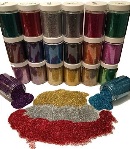 100ml Dose Premium-Glitzer – Glitter Pulver/Staub – EXTRA FEIN zum Mischen für Farbe, Basteln, Malen, Scrap-Booking – Glänzend WASSERFEST –Farbe wählbar- Gold, Silber, Bronze… (Hell Silber)