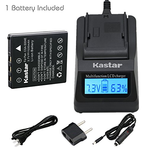 Kastar Fast Charger and Battery 1-Pack for Sanyo NP-40 UF553436 and Sanyo Xacti VPC-E1075 VPC-E1090 VPC-E760 VPC-E760GL VPC-E760P Xacti VPC-E860 VPC-E870 VPC-E870G VPC-E875 VPC-E875EX VPC-E890 Cameras