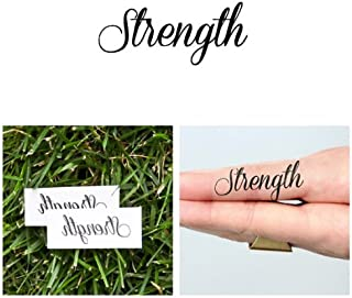Tattify Strength Temporary Tattoo - Lift Me Not (Set of 2) - Other Styles Available - Fashionable Temporary Tattoos