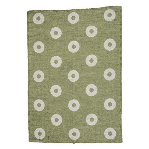 [クリッパン] Klippan ミニブランケット ウール 65×90cm リングス/グリーン Rings Baby Green 2454.03 ひざ掛け Wool Blankets ベビー 毛布 ふわふわ あったかグッズ プレゼント [並行輸入品]