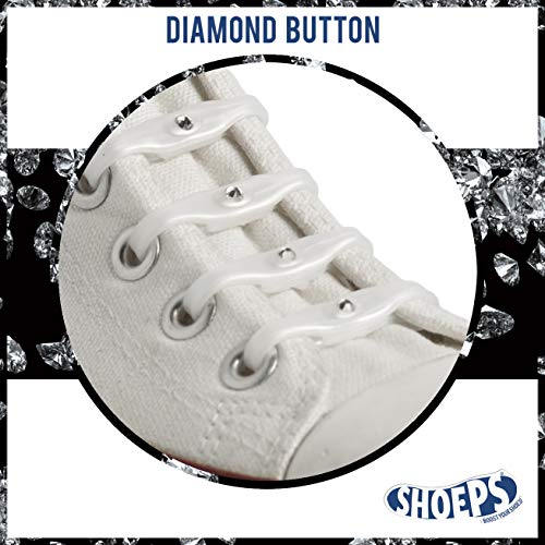 Shoeps Elastic Schnürsenkel, 8 teilig, Pearl Diamond