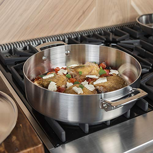 Viking Professional 5-Ply Stainless Steel Everyday Pan, 6.4 Quart