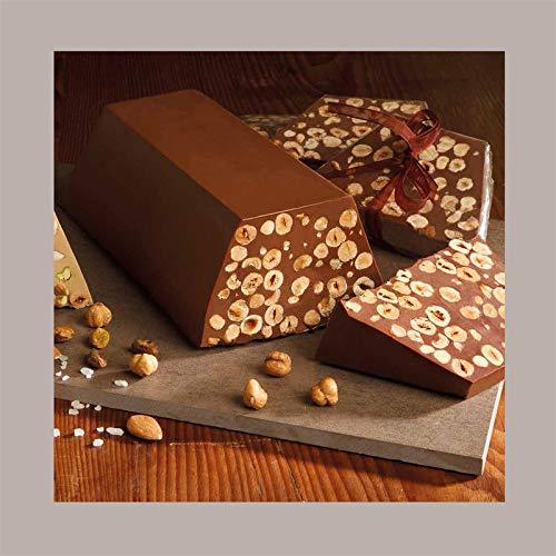LUCGEL Srl (2 Kg) Blocco Cioccolato Da Taglio alla Gianduia con Nocciole VENCHI | Pasticceria Dolci