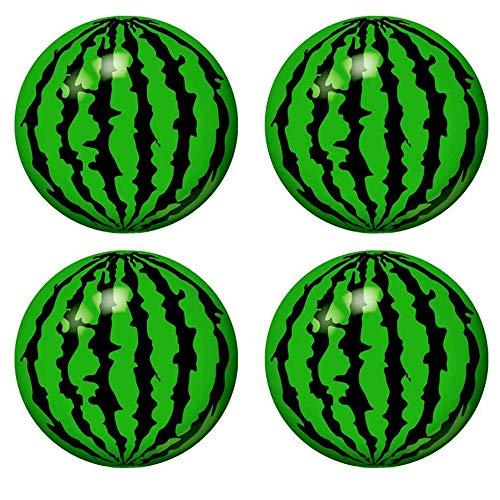 nuluxi Aufblasbarer Wasserball Set Wassermelonen Wasserball Aufblasbare Strandbälle Kinder Spielzeug 22cm Durchmesser Schwimmbad Party Bälle für Kinder Draußen Drinnen Sommer - 4 Stück (Ohne Griff)