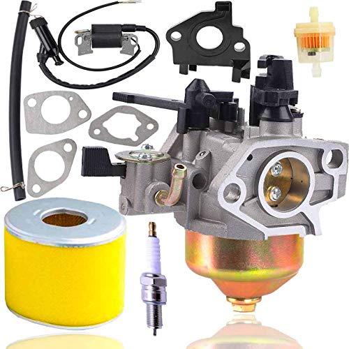 Fyange GX390 Vergaser+ Zündspule + Luftfilter für Honda GX340 GX390 11HP 13PS Motorgenerator Rasenmäher Motor ersetzt 16100-ZF6-V01