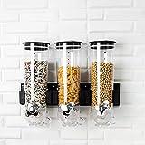Support Mural Trois Ensembles Distributeur Sec céréales Alimentaires Stockage Organisateur conteneur approprié for céréales, Sucre, Riz, Noix, Casse-croûte (Color : Three-Sets)
