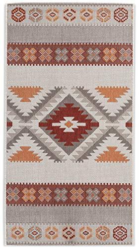 In- und Outdoor-Teppich Warm Nordic Pattern 80x150cm Kunststoff für Innen und Außen