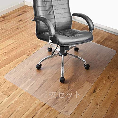 床保護マット チェアマット SALLOUS ずれない 透明 PVC 100*120cm厚み1.5mm SGS認証済無毒エコ素材 デスク足元マット 傷防止 傷防止 すべり止め フローリング 床を保護 机下/椅子/フロア/畳/床暖房対応/オフィス (100*120cm, 2枚入り)