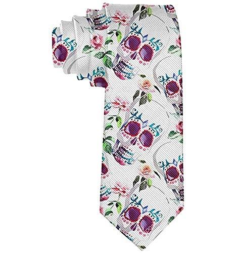 Gafas de sol para hombres Flores Calavera de azúcar Poliéster Seda Casual Caballero Corbata Corbata Regalo-Talla única