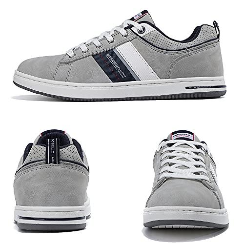 ARRIGO BELLO Zapatillas Hombre Vestir Casual Zapatos Deportivas Sneaker Transpirables Cómodo Running Caminar Correr Trainer Tamaño 41-46 (Gris Oscuro, Numeric_46)