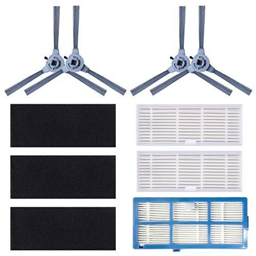 Coredy Kit de Piezas de Repuesto (Cepillo Lateral, Filtro HEPA Lavable, Cubierta Protectora de Filtro) para aspiradora Robot R500 R500 + R550 R650 R750