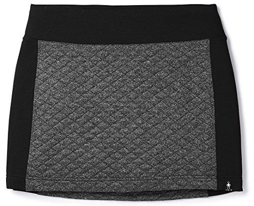Smartwool Diamond Peak Quilted Skirt Black Heather LG
