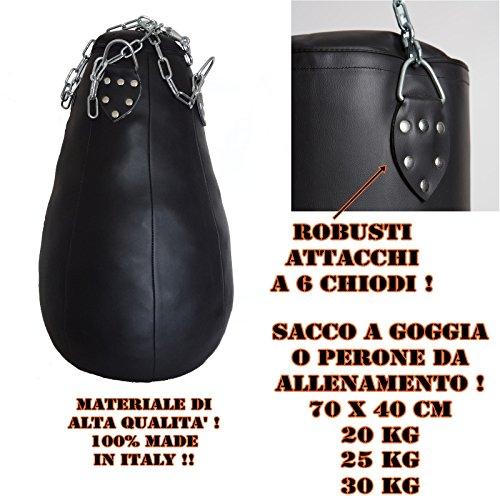 sacco boxe a pera o goccia alta qualità 100{5fa19bb437aeadc143ff78a9d552649e5e666fb2749874ce98ecf4aa07dfff39} vari pesi (VUOTO)