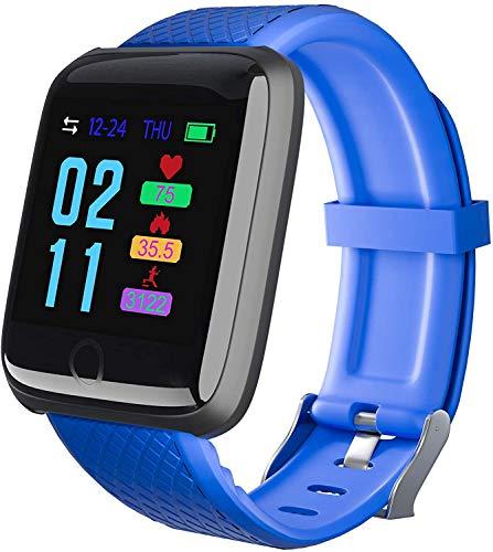 Reloj inteligente para mujer y hombre, rastreador de fitness para hombres y...
