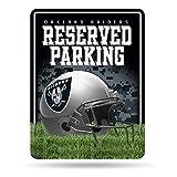 NFL Oakland Raiders 20.32 cm x 27.74 cm Placa de metal para estacionamiento