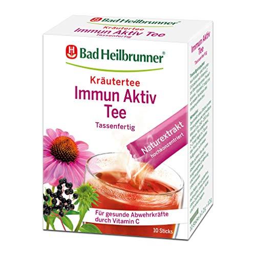 Bad Heilbrunner Immun Aktiv Tee im Stick, Tassenfertig, 8er Pack (8 x 10 Pyramidenbeutel)