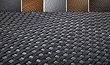 KADAX Sichtschutz für Balkon, Terrasse, Zaun, wetterfeste Sichtschutzmatte aus PE-Rattan, Balkonbespannung mit Kabelbinder, Sichtschutzzaun, Balkonverkleidung, Windschutz (1 m x 7 m, anthrazit)