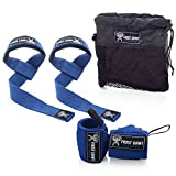 Premium Wrist Wraps + Lifting Straps Bundle w/Carry Bag | Professional Grade...