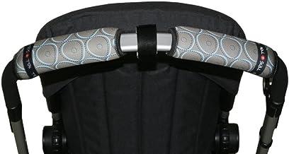 Tris & Ton Fundas empuñaduras horizontal doble modelo, empuñadura funda para silla de paseo cochecito carrito carro (Diversos modelos) Gris (8435415905060)