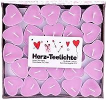 Pajoma Velas con forma de corazón, 50 unidades, 3 horas, color rosa