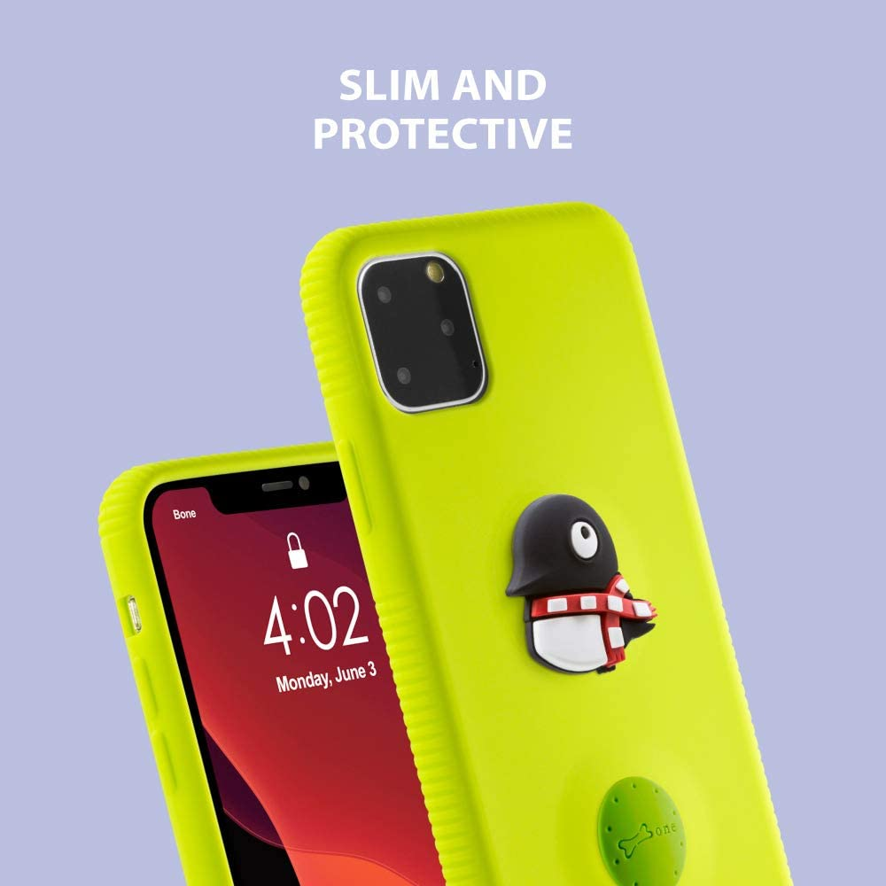 Bone Phone Charm Case for iPhone 11 Cute 3D Animal Cartoon Silicone Bumper Case for iPhone 11 Mr. Deer