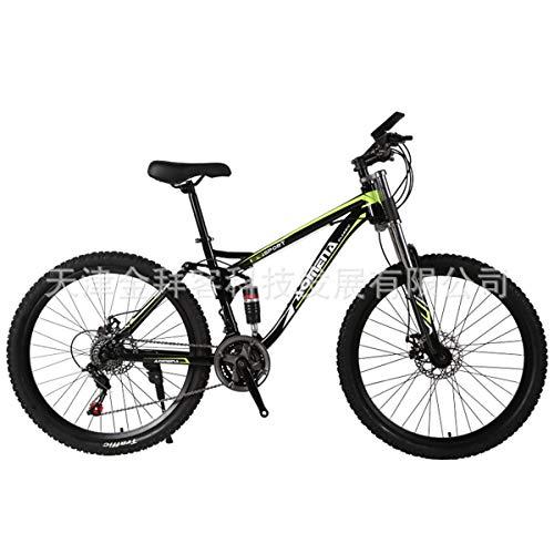 Adult Downhill All-Terrain-Off-Road-Racing Soft-Schwanz Doppel Shock 26-Zoll-Off-Road-Mountainbike Doppel Shock black green