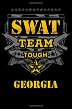 Georgia SWAT Team Tough Law Enforcement Journal: State Police Officer Gift 6 x 9 Blank Lined Notebook Thin Blue Line