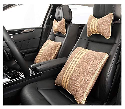 QSWL Coche La Almohada Almohadilla Apoyo para El Cuello del Asiento del Automóvil Cojín Lumbar Silla Oficina Respaldo, (Color : A, Size : 43X43X12CM)