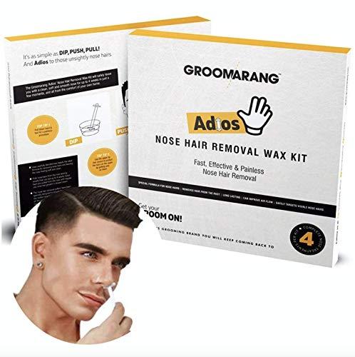 Groomarang 'Adios' Nasenhaarentfernung Wachs Kit Nasen- und Ohrhaare - schmerzlos, effektiv und sicher