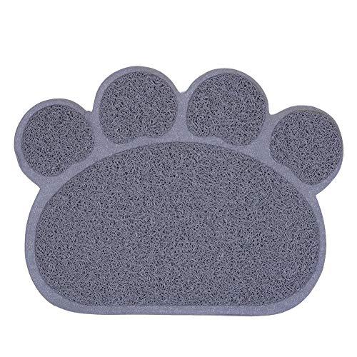 Gutyan Napfunterlage Futterunterlage Multifunktionale PVC-Pfote Form Hund Katze Wurf Matte Haustier Kitty Dish Futternapf Tischset Anti-Rutsch-wasserdichte Auflage