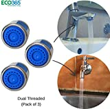 ECO365 Water Saving Aerator with Dual Threaded Shell 3 LPM Shower Flow Tap