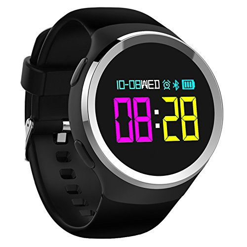 Hangang Smartwatch Bluetooth Touch Braccialetto Intelligente Sonno monitor Sport Fitness Tracker IP67 impermeabile Smart Watch ios8.0 e Android 4.4 Phone, Nero