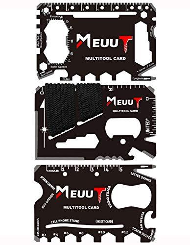 3 Pack Credit Card Multitool- Wallet Survival Multi Tool Card Gift Set Stainless Steel Multi-purpose Pocket Tool Gadgets