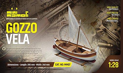 kit modelo de barco GOZZO MEDITERRANEO VELA categoria scale
