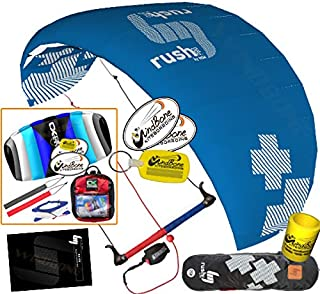 HQ Rush V Pro 300 Kiteboarding Trainer Kite CXS Bundle : (5 Items) Includes 2ND Kite : CX 1.5M Foil Control Strap Kite + WindBone Kiteboarding Lifestyle Decals + WBK Koozy Cooler + WindBone Key Chain