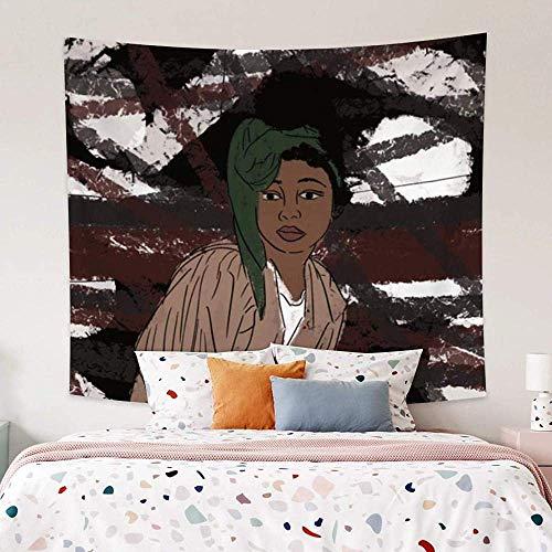 Tapiz Tapiz de Moda niña Negra Ropa Juvenil Cuadro para Colgar en la Pared habitación de Noche Boda de Vacaciones Restaurante Tienda Universidad Sala de Estar 150 cm x 200 cm