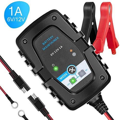ZHITING Cargador de Bateria Coche 6V 12V Inteligente Mantenimiento de Batería Automático Battery Charger para Vehículos Motos