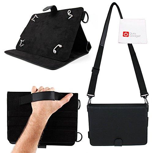 DURAGADGET Funda De Polipiel para Tablet Lenovo Tab 10 / Teclast X98 Plus II + Asa De Hombro + Paño - Función Atril - Negra