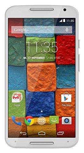 Motorola Moto X 2. Generation Smartphone (13,2 cm (5,2 Zoll) Full HD-Display, Touchscreen, 13 Megapixel Kamera, WiFi, 16GB interner Speicher, Android KitKat 4.4.4) weiß/bambus