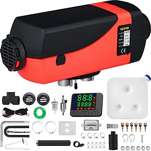 VEVOR Calentador de Aire Diesel 12V 2KW con Silenciador Calentador de Combustible Calefacción Estacionaria Diesel Calentador Coche Diesel Aire Calentador Motor Diesel