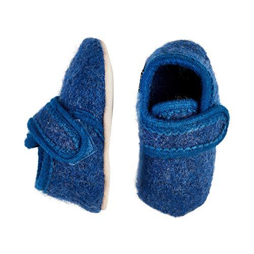 Celavi 3953 Chaussures en Laine Unisexe pour bébé 4-5 Ans Bleu Taille 27/28