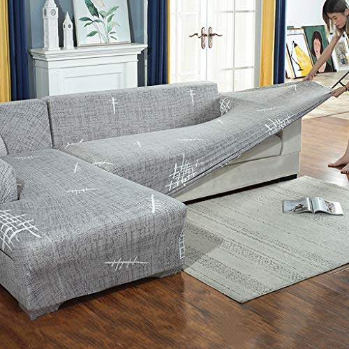 JIAAN Sofabezug Sofa Abdeckung Sofabezug Sofaüberwürfe für L-Form Sofa elastische Stretch Sofabezug,Set für 1-4 Sitzer Sofa(Wenn Ihr Sofa EIN L-förmiges Ecksofa ist,müssen Sie Zwei kaufen)