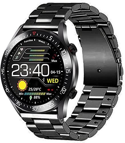 BZYZ Reloj Inteligente para Hombres, Reloj con Monitor de sueño, Reloj Inteligente para teléfonos Android e iOS, Reloj Bluetooth de Pantalla táctil de 1,3 Pulgadas, ip68 Impermeable(C)