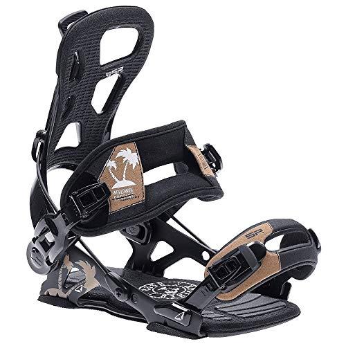 BEXTREME Bindung Snowboard SP Brotherhood Black L 42-44 EU 9-12 US für Damen und Herren Bindung Snow Automatik Typ Flow schwarz für Freestyle und Freeride