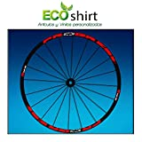 Ecoshirt D3-07XA-SEGW Pegatinas Stickers Llanta Rim Progress Xcd EVO Am44 MTB Downhill, Rojo 29'