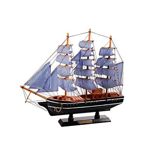 Guvd Decorazione del Modello di Barca a Vela, Realistico Veliero Artigianato in Legno Decorativo Decorazione da Tavolo Ornamento Corsair